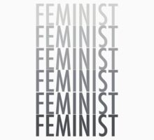 FEMINIST BLACK AND WHITE Kids Tee
