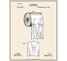 Toilet Paper Roll Patent - Colour Photographic Print