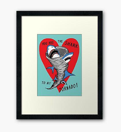 Shark To My Tornado Framed Print