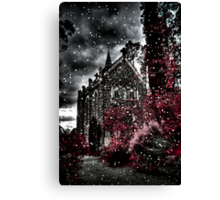 Snowy day at Monsalvat Canvas Print