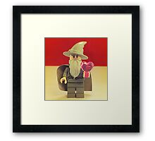 Gandalf Valentines Framed Print
