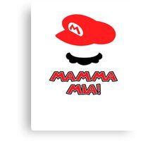 Mario Mamma mia! Canvas Print