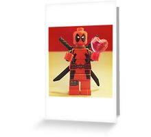 Deadpool Valentines Greeting Card