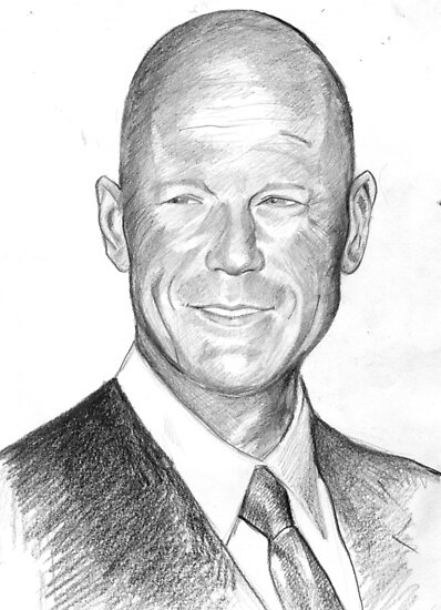 Bruce Willis Sketch by dobbyf
