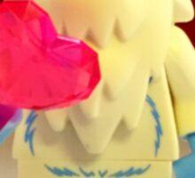 Lego Yeti Valentines Sticker