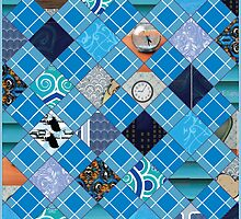 Blue Community Patchwork Quilt by I ♥ Patterns
