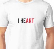 I Heart, love art Unisex T-Shirt