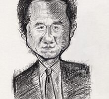 Jackie Chan Caricature by dobbyf
