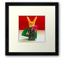 Loki Valentines Framed Print