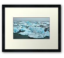 Coloured Icebergs Framed Print