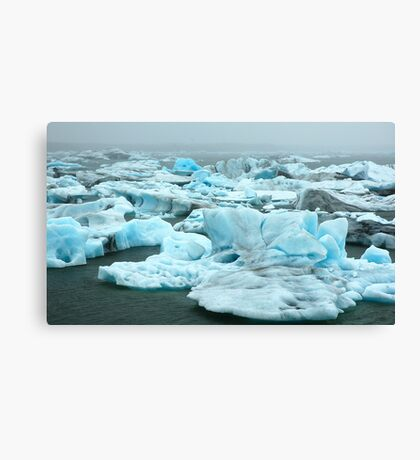 Coloured Icebergs Canvas Print