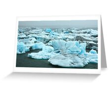Coloured Icebergs Greeting Card