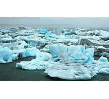 Coloured Icebergs Photographic Print