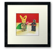Loki Loves Cap' Framed Print