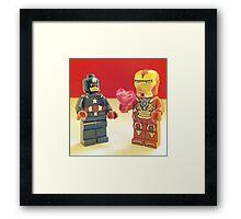 Iron-Man Loves Cap' Framed Print