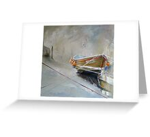 Sun Trying to Breakthrough, Staithes Greeting Card