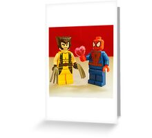 Spider-Man Loves Wolverine Greeting Card