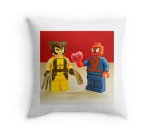 Spider-Man Loves Wolverine Throw Pillow