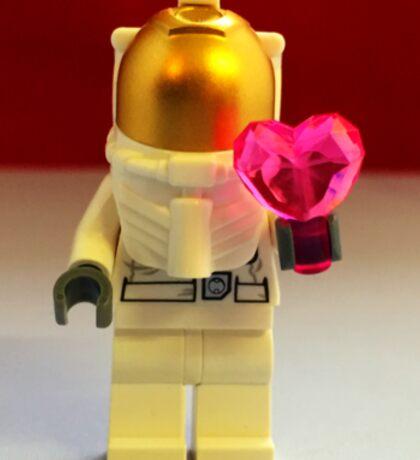Lego Spaceman Valentines Sticker