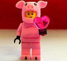 Lego Piggy Man Valentines by FendekNaughton