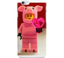 Lego Piggy Man Valentines iPhone Case/Skin