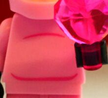 Lego Piggy Man Valentines Sticker