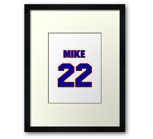 National Hockey player Mike Wong jersey 22 Framed Print