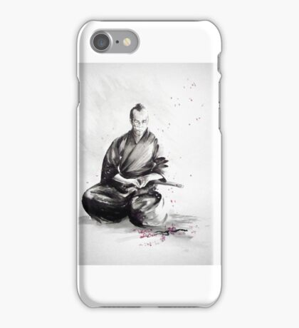 Samurai sign, japanese warrior ink drawing, mens gift idea large poster iPhone Case/Skin