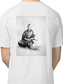 Samurai sign, japanese warrior ink drawing, mens gift idea large poster Classic T-Shirt