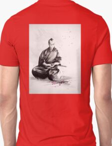 Samurai sign, japanese warrior ink drawing, mens gift idea large poster Unisex T-Shirt