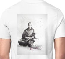 Samurai sign, japanese warrior ink drawing, mens gift idea large poster Unisex T-Shirt