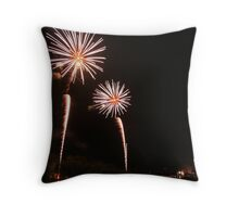 Red Wing Fireworks Throw Pillow