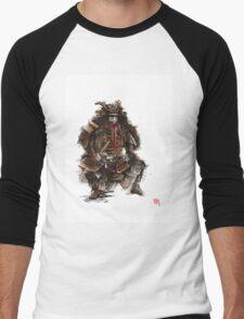 Samurai armor, japanese warrior old armor, samurai portrait, japanese ilustration art print Men's Baseball ¾ T-Shirt