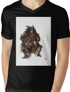 Samurai armor, japanese warrior old armor, samurai portrait, japanese ilustration art print Mens V-Neck T-Shirt