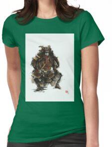 Samurai armor, japanese warrior old armor, samurai portrait, japanese ilustration art print Womens Fitted T-Shirt