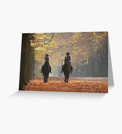 Riding out in the magic of autumn Greeting Card