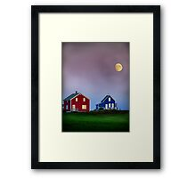 End of day in colors Framed Print