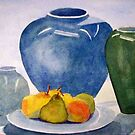 Still Life Vases and  Pears by coolart