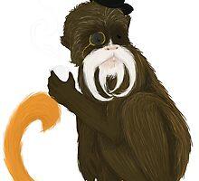 emperor tamarin monkey by HollieBallard