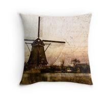 Kinderdijk - Forgotten Postcard 2 Throw Pillow