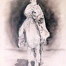 Tunisian Horseman by Joseph Barbara