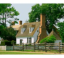 The Cottage - Williamburg, VA © Photographic Print