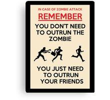 Zombie Outrun Canvas Print