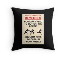 Zombie Outrun Throw Pillow