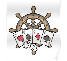Poker in navy Poster