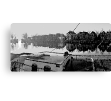 Harbor of Blokzijl ( holland) in Black/White Canvas Print