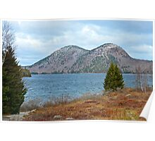The Bubbles and Jordan Pond, Acadia National Park, Maine Poster