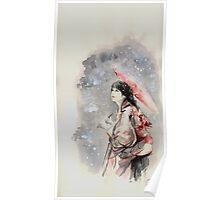 Geisha sign room decoration, japanese woman wall print, geisha figurine large poster Poster