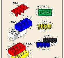 Lego Building Brick Patent - Colour by FinlayMcNevin