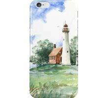 Vintage Tawas Point Light House iPhone Case/Skin